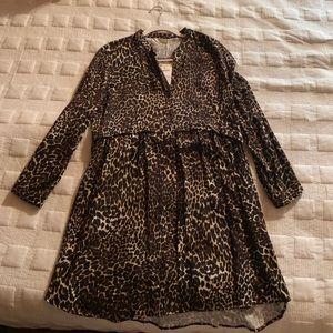 NWT Zara Leopard Long Sleeve Dress
